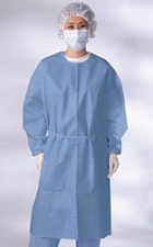 P.E. Coated Isolation Gowns