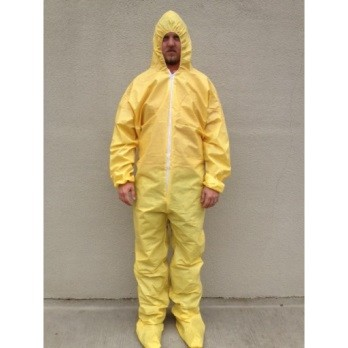 Sunshield PE Chemical Coating Coveralls (Hood & Boots)